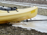 Kayak and ice