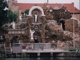 Front view, the Grotto, an amazing shrine and work of craftsmanship