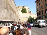 Queueing outside Musei Vaticani