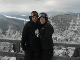 On Whiteface with my sister