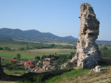 View from the 12th century ruins of the Nograd castle.
