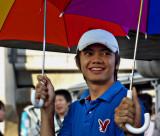 Fella with an umbrella