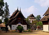 Wihan Phra Phut (left) with Ho Phra Phuttabat in the back