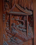 Carved shutter