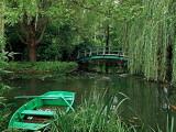 Monet's Japanese Footbridge in the background