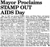 Stamp Out AIDS Day