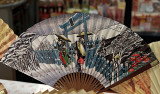 Japanese fan with a snow scene