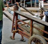 Cart bigger than the boy
