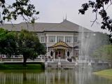 Palace with lake and fountain