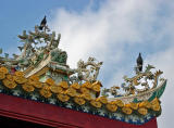 Roof detail with birds