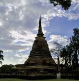 Wat Sra Sri chedi in silhouette