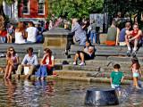 Around the fountain