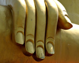 Fingers of the giant Buddha image