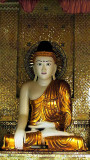 Image of the Buddha dressed in gold