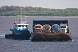 Tug Nelson River bringing barge into Moosonee