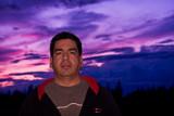 Doug in front of sunset 2008 September 16th
