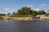 Shoreline stabilization work along the Moose River