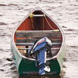 Canoe at anchor