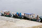 Taxi boats wait in Moosonee