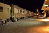 Polar Bear Express coaches at Cochrane 2009 April 9th