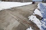 Highway 650 crossing near former Adams Mine, not in use.