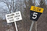 Signs just before Moosonee