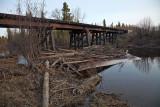 Butler Creek rail bridge in Moosonee