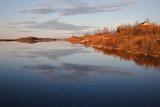 Shoreline upriver from public docks