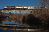 Northerlander crossing a channel of the Wabi River just north of New Liskeard 2009 October 15th