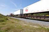 Trailers on flatcars headed for Moosonee