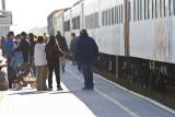 Platform before departure of Polar Bear Express
