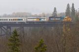 Northlander crossing the Englehart River 2010 October 13