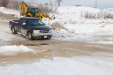 Winter road to Moose Factory
