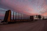 Centre post bulkhead car 4010 along the Moose River around sunset 2012 September 12th.