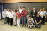 Students, staff, community leaders and Ontario cabinet minister at funding announcement