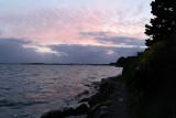 Coucher de soleil sur la presqu'île de Mousterian (Golfe du Morbihan)