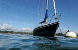 Essai de photos sous marines en Zodiac sur le golfe du Morbihan avec mon ami Yvon