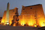 Egypte 2010 - Visite de nuit du temple de Louxor / Louxor temple by night