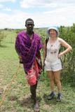 Dans la brousse en compagnie de plusieurs Moranes, des jeunes guerriers Masaï