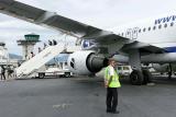 Après l'atterrissage à l'aéroport de Bastia