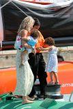 Franck Cammas, sa femme et leurs deux filles