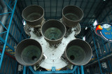 The business end of a Saturn V rocket