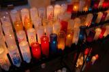 Prayer candles inside Nombre De Dois Mission