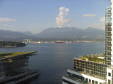 Looking at Burrard Inlet from downtown Vancouver