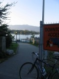 Entering Stanley Park bike trail
