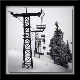 Taos Ski Valley in B&W