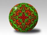Fractal chirstmas ornament