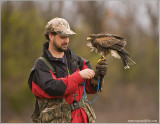 Dave House and his Harris Hawk