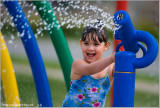 Maria at the Splash Pad