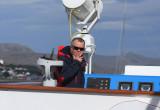 Captain John Moulds at work